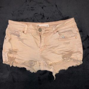 RSQ Pink Distressed Jean Shorts - Size 5